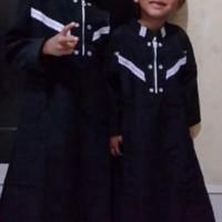 baju muslim koko gamis anak arab pria laki syar'i hitam (1 sd 12