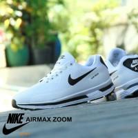 Jual Sepatu Nike Airmax Zoom GRADE ORI Full White Putih Sport Casual Pria Murah