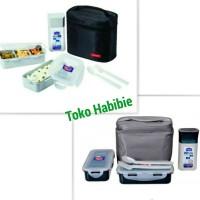 Lock & Lock/Lock n Lock Lunch Box set 3P beserta tumbler