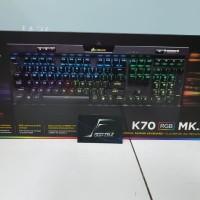 Corsair K70 RGB MK2 Mx Brown Mechanical Keyboard Garansi Resmi DTG 2Th