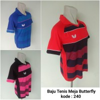 Baju Pingpong Kaos Tenis Meja Butterfly 240 baju olahraga kerah impor