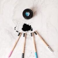Denta Secret Charcoal Teeth Whitening Powder & Bonus Toothbrush bamboo