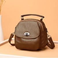 tas wanita coklat selempang kulit pu jinjing import murah 20121 elegan