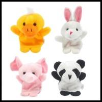 MURAH Set boneka jari hewan binatang mainan   Animal Finger Puppet a3cd1128d0