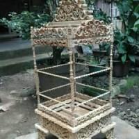 Harga sangkar burung ukir jati untuk cucak ijo murai batu kacer kenari | Pembandingharga.com
