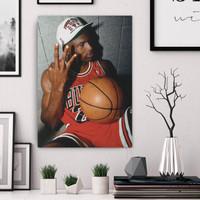 """Michael Jordan, ver.1"" Poster Kayu (30x22)"