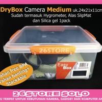 Harga dry box drybox penyimpanan kamera hygrometer medium free silica   antitipu.com