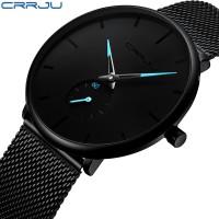 Crrju Fashion Mens Watches Top Brand Luxury Quartz Watch Men Casual Sl