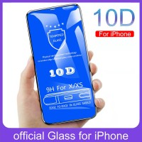 Cleiree 10D Protective Tempered Glass for iphone X XR 7 8 6 6s Plus Sc