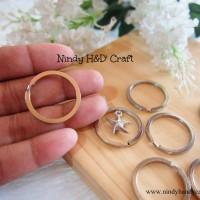 Ring Besi 3cm isi 100pcs - Ring Juntai - Ring O Keychain - Ring Bulat