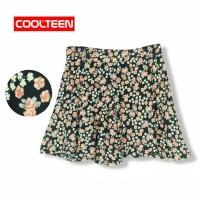 rok flare - COOL Teen - rol flare skirt.bunga coklat