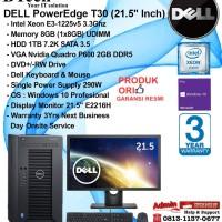 DELL Server T30 PowerEdge Intel Xeon E3-1225 v5/8GB/1TB/VGA/Win10Pro