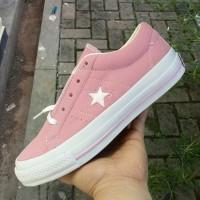 sepatu sneakers casual converse one star pink putih cewek women wanita