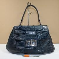 Tas wanita branded FURLA aqua marine croco motif bag second original 76ba2d9858