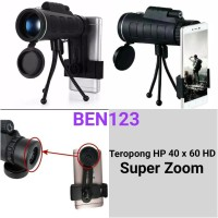 Teropong HP 40 x 60 HD/ Telescope Monocular Super Zoom