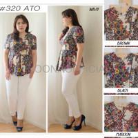 Baju Cewek Murah JUMBO BATIK 320 ATO BLOUSE BIGSIZE MATERIAL KATUN ST