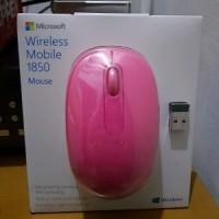 Microsoft Wireless Mobile 1850 Mouse Pink Berkualitas