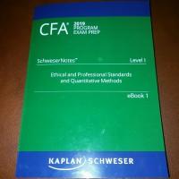 CFA 2019 level 1- Print dari Schweser ebook + quicksheet +cd