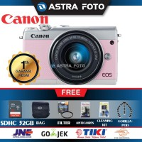 Canon EOS M100 Kit 15-45mm Paket 32gb DAHSYAT !!