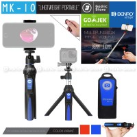 BENRO MK10 Bluetooth 3in1 Mini Tripod Tongsis for HP & Action Camera