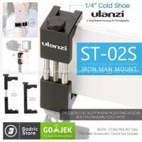 ULANZI IRON MAN2 ST-02S ST-02 S CNC Metal Holder Microphone Smartphone