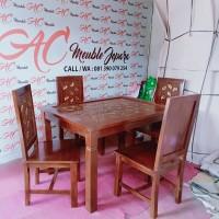 Set meja makan,meja makan minimalis,kursi makan jati
