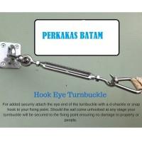 Span Skrup 12mm Jarum Keras SS304 Turnbuckle Eye To Hook SpanSkrup