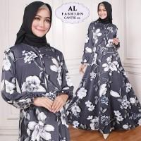 Maxi Raisa Rose (10) Baju Muslim Wanita Gamis Model Kekinian Terbaru