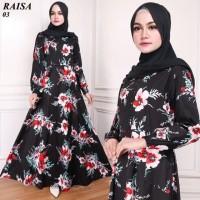 Maxi Raisa Rose (03) Baju Muslim Wanita Gamis Model Kekinian Terbaru