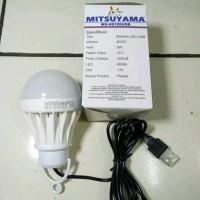 LAMPU BOHLAM LED USB 5 WATT GARANSI