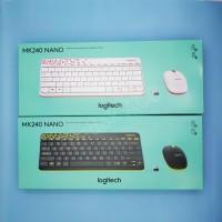 Logitech MK240 Nano Keyboard + Mouse Wireless - Putih