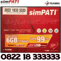 Simpati Nomor Cantik 0822 18 333333 kartu perdana telkomsel heksa