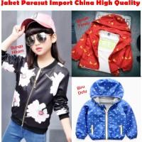 Outerwear Pakaian Anak Perempuan New Jaket Parasut Motif Bung SALB9984