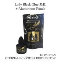 Lady Black Glue 5ML with Seal / Eyelash Glue Lady Black Lem Bulu Mata