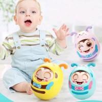 Mainan Edukasi Rattle Gigitan Bayi boneka lebah mata bisa kedap k