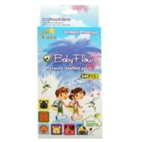 BABY FLOW Mosquito Repellent Patch / Stiker Anti Nyamuk isi 24 pcs