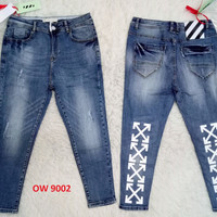 Celana Jeans OFF WHITE MIRROR 1 : 1 - Biru