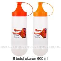 6 Botol Kecap 600 ml   Botol Saos   Botol Mayonnaise   Squeeze Bottles