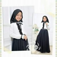 Baju Muslim Anak Hijab Tuwice Kids Black Usia 8-9-10-11-12