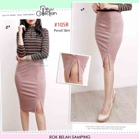 Rok Span Belah Depan / Pencil Skirt