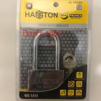 Gembok Model Pelor / Gembok Pintu HASSTON 60 mm Chrome Panjang
