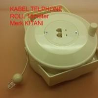 Kabel Telphone Roll RJ11 4 pin 15 meter Merk KITANI