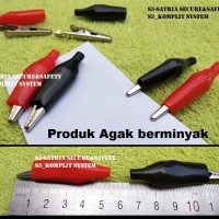 Harga bagus merah hitam jepit buaya 5 cm aki alligator clips 5cm | antitipu.com