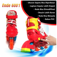 Sepatu Roda Anak Inline Skate Kids Ban Karet LED PVC Power Aosite 6001