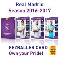 Kartu Fezballer cards edisi team REAL MADRID season 2016/2017