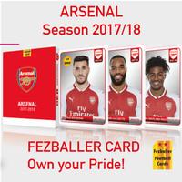 Fezballer cards edisi team ARSENAL FC (the GUNNERS) season 2017/2018