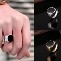 Cincin Titanium polos untuk Pria dan wanita