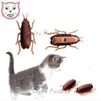 Mainan Kucing Anjing Kecoa Getar Bergerak