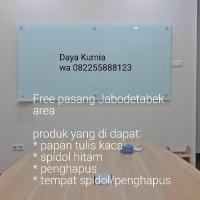 Papan tulis kaca white board 100 x 180