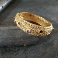 Gelang Perak Bun Bali Trawangan Silver Gold Plated